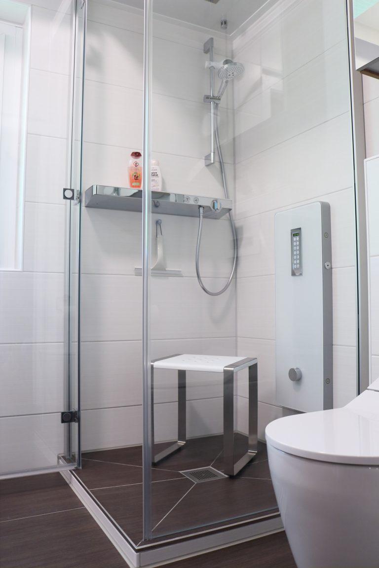 Badezimmer mit Dampf-Dusche, Entspannen auf 0,81 qm